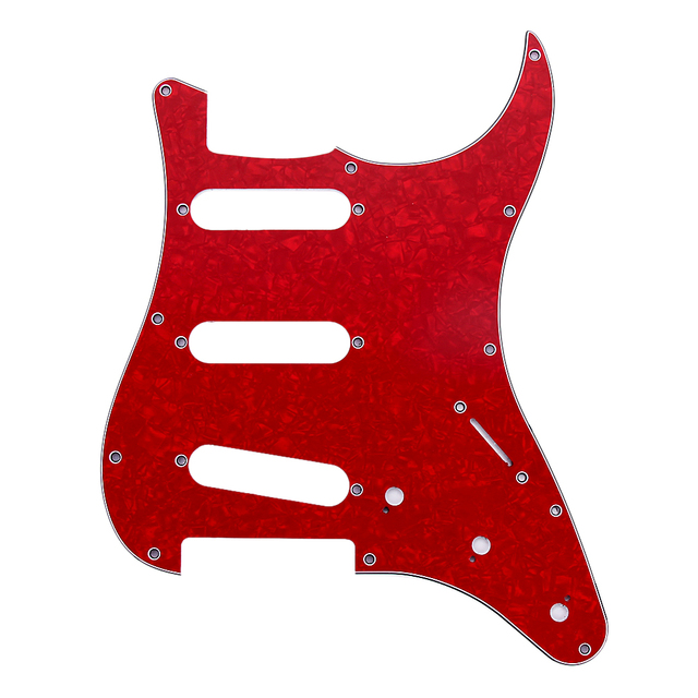 NEW Guitar accessories Replacment 4 color 3Ply SSS  Guitar Pickguard Plate for ST Style for electric Guitar