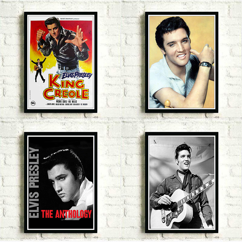 Rock And Roll Music Posters Elvis Presley Rock Singer HD Printed Poster Personalised Room Decoration Bar Cafe Wall Painting
