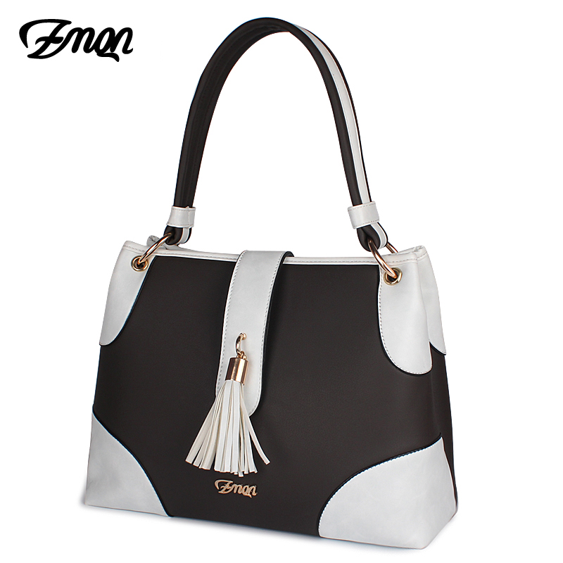 ZMQN Women Bag Handbags Women Famous Brand Luxury Designer Handbag High Quality Soft Leather Hand Bag Ladies Tassel Kabelka A812 цена