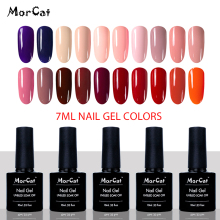 MorCat Gel Nail Polish Princess Pink Style Color UV Gel Varnish Nail Art UV Varnish White Gel Lacquer 10ml Nail Gel Polish ibd белый гелевый лак для дизайна с тонкой кистью 56954 ibd just gel polish white gel art polish w gel brush 19405 14 мл