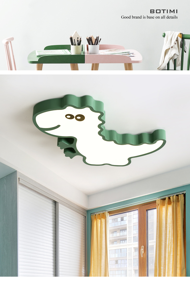 Botimi dinosaur shaped led ceiling lights for kids room boys bedroom ceiling mounted lamps cartoon children lighting fixtures