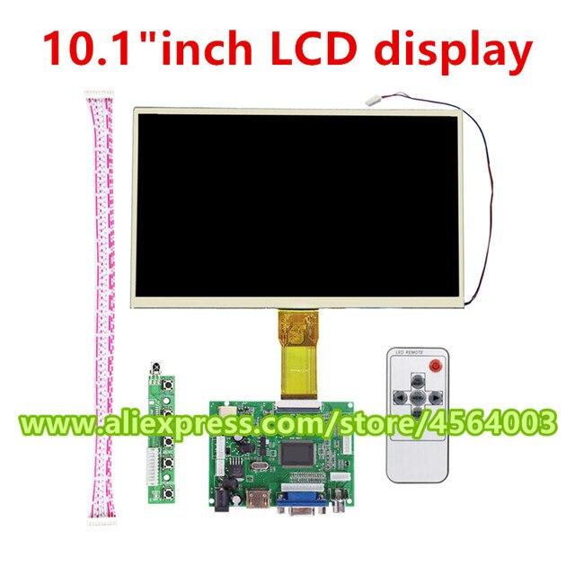 """1024*600 pantalla de visualización 10,1 """"pulgadas 50pin LCD Monitor TTL Placa de controlador salida de Audio HDMI + VGA + 2AV para tarta de frambuesa 3"""