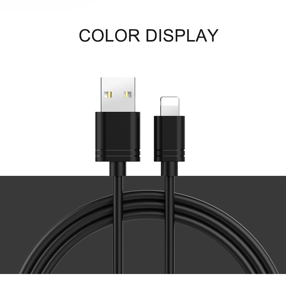 NOHON TPE Charging Data Cord For iPhone X XS MAX XR 8 7 6 6S 5 5S Plus IOS 11 12 Lighting Fast Charger Charge Cable For ipad 2M (11)