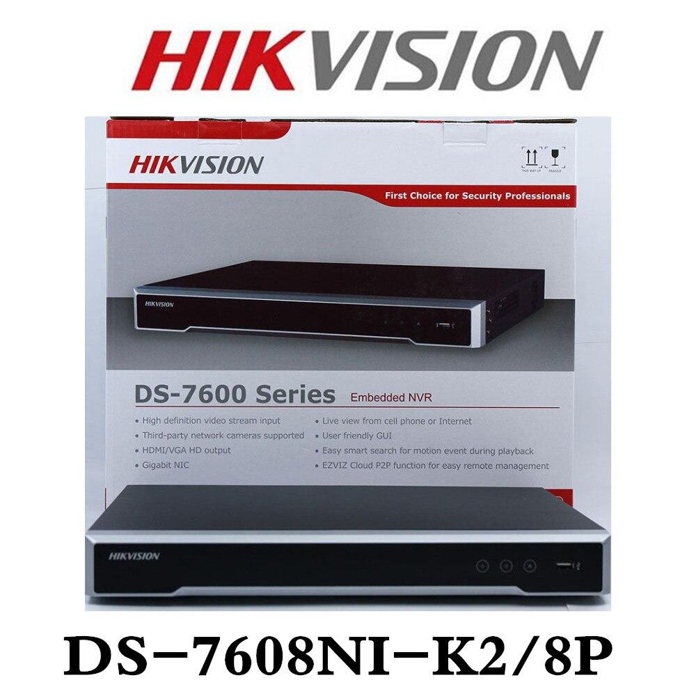Hikvision DS-7608NI-K2/8 P 8CH NVR Netzwerk Video Recorder Englisch Version Hikvision NVR H.265 Unterstützung Upgrade 8MP Mit 8 port POE