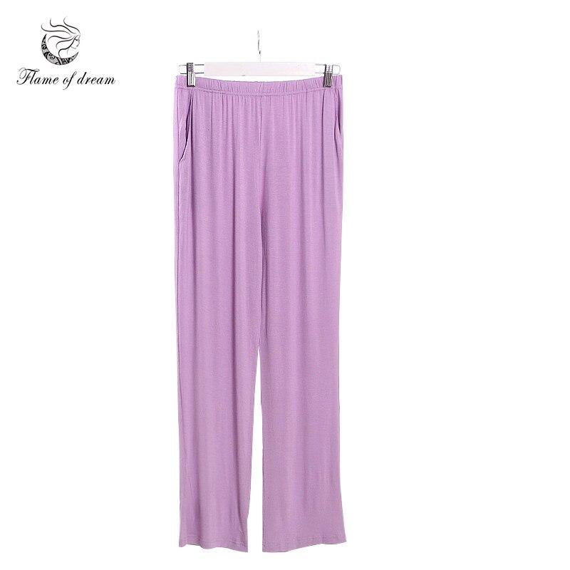 இPijama Femme material modal pijamas parte inferior pantalones de ...
