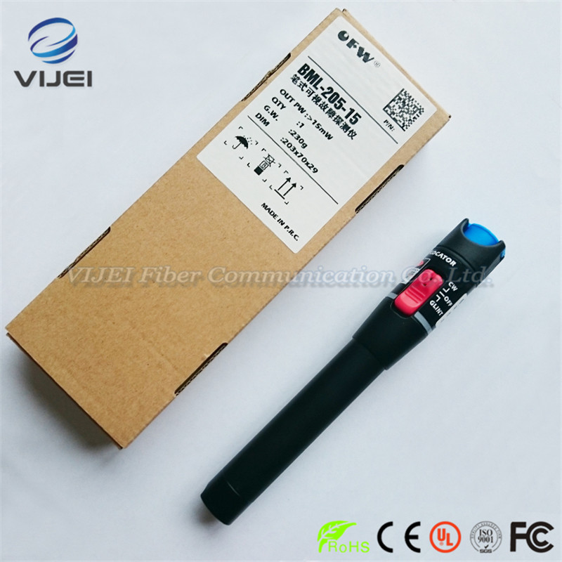 Original Tribrer 15km VFL BML-205-15 Fiber optic visual fault detector pen out pw : >15mWOriginal Tribrer 15km VFL BML-205-15 Fiber optic visual fault detector pen out pw : >15mW