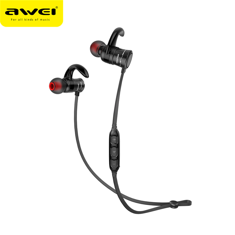 AWEI Bluetooth Earphone Wireless In-ear Sports Earphones With Magnetic Controller Headset Blutooth Earphone for Smartphones awei blutooth sport headset earbud in ear cordless wireless headphone auriculares bluetooth earphone for your in ear phone buds