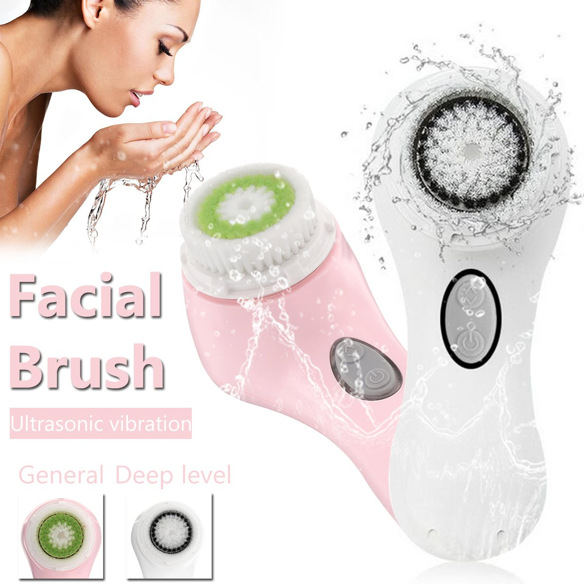 Ultrasonic Facial Cleansing Brush Electric Face Deep Pores Cleaning Massager Exfoliator Scrubber Skin Care Tool USB Rechargeable electric face brush women silicone facial cleansing massager brush skin care cleanser dirt remove exfoliator cleaning tool