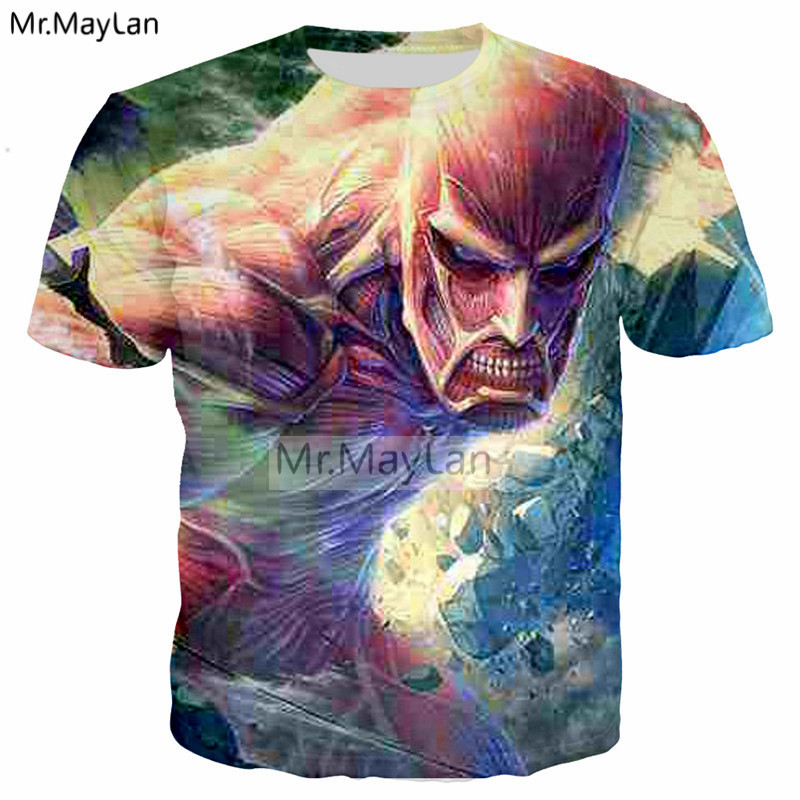 Anime Attack on Titan 3D Print T shirt Men/Women Hiphop Rock T-Shirt Tees Tshirt 2018 Bo ...