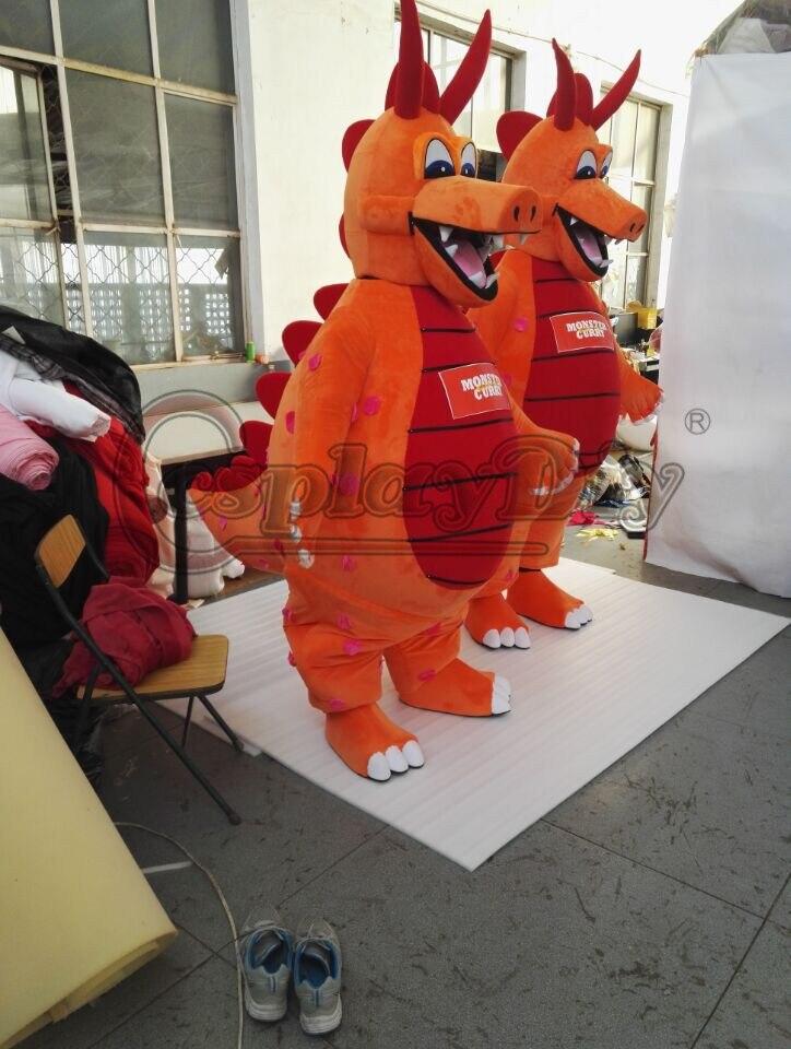 CosplayDiy mascotte Costume monstre Curry Dragon dessin animé mascotte unisexe Halloween fête de noël Costumes mascotte sur mesure - 3