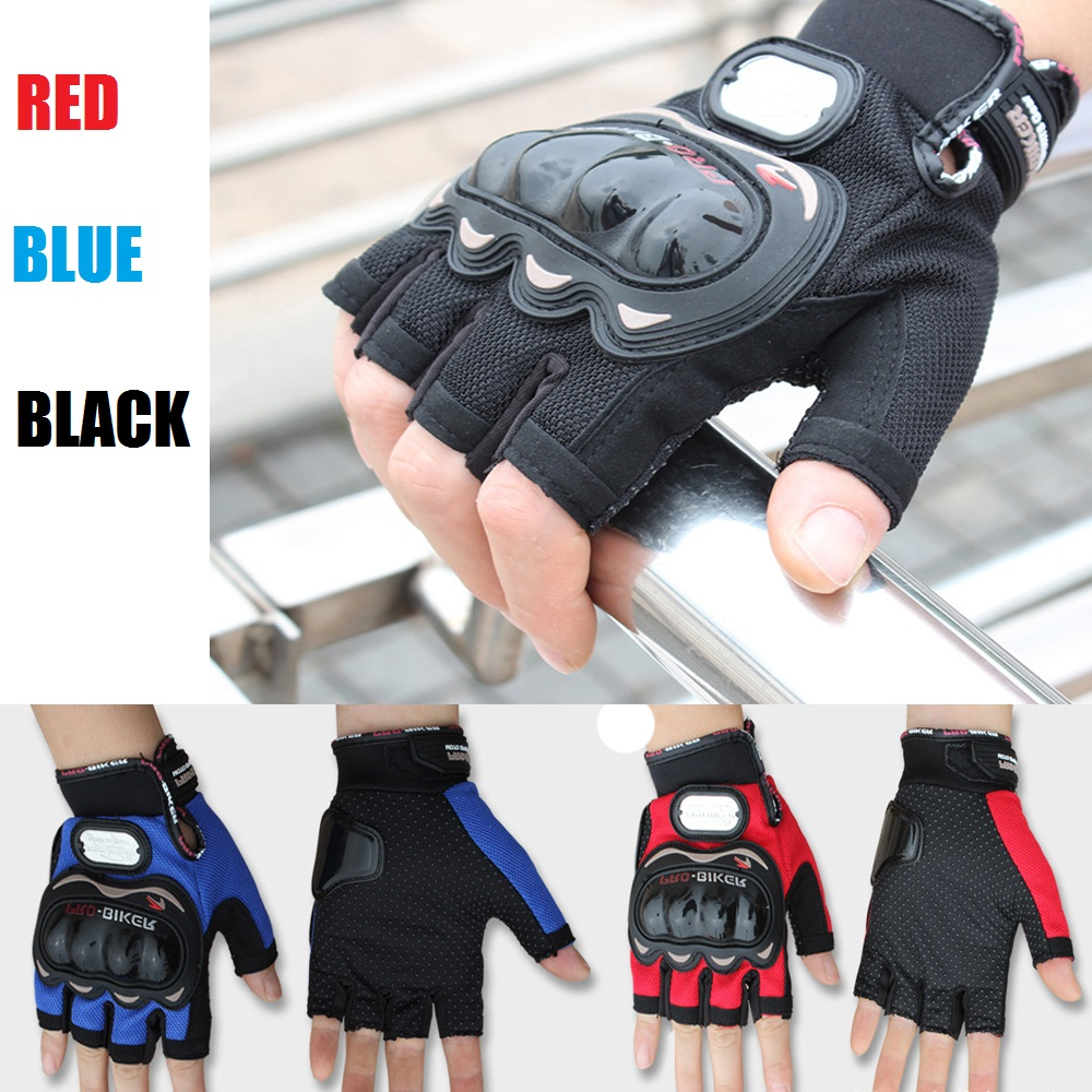 Motorcycle Protective Half Finger Gloves Motocross Racing Pro-Biker Cycling red bue black pro biker mcs 01a motorcycle racing full finger protective gloves red black size m pair