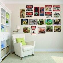 Dog  Cat Pet Metal Plate Animal Tin Sign Plaque Vintage Wall Art Retro Home Decor 30X20CM DU-2578