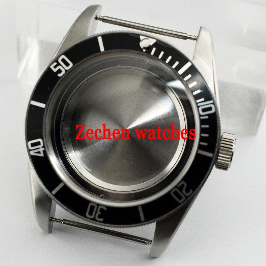 41mm Wrist Watch Case Fit Miyota parni watch 8205/8215/821A ETA 2836 Mingzhu DG 2813/3804