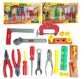 2014 chicos bebé simulación juego de herramientas kit para los niños juguetes educativos play house clásico juguete de plástico los niños las herramientas martillo caja de herramientas