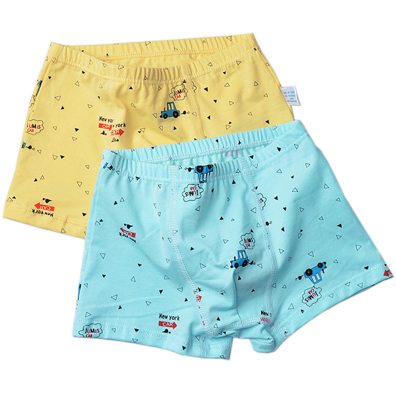 2pcs/lot Soft Print Cotton Boys Boxers Cartoon Car Letter Bear Kids Underwear Boys Panties Briefs Kids Cotton Shorts