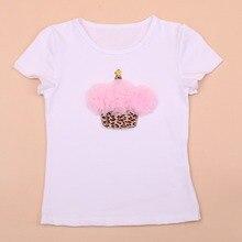 Retail New Baby Boys Girls Cartoon Children T Shirt 100%Cotton Kids Short Sleeve Tops Tees Birthday Gift 2015 Hot Clothing