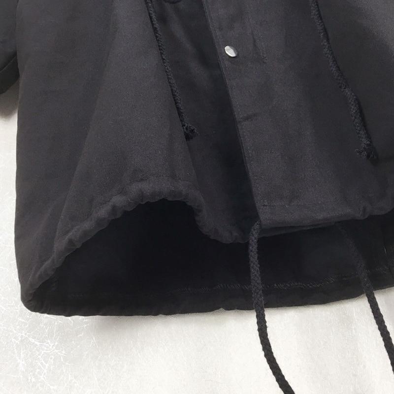 Green Unique Taille army Hiver Large Poitrine Automne Collar Kb140 Manteau Casual Perles Mode De Black Mandarin Femmes Poches 2018 qlzw À Nouvelle 01Bq0Aw