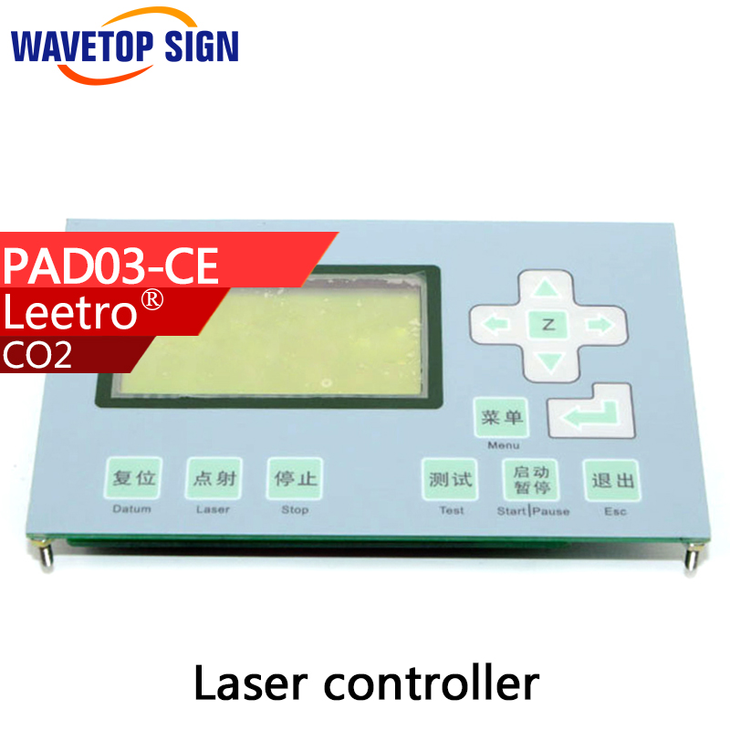 Leetro lcd control panel PAD03-CE use for mpc6515C mpc6525A mpc6565 mpc6585  lcd panel economic leetro mpc 6525a 6535 motion controller for co2 laser cutting machine upgrade of 6515