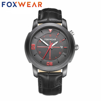 FOXWEAR Inteligente Bluetooth Reloj Smartwatch Reloj 3ATM Impermeable IP67 Quart de Salud Deportes de la Aptitud para el iphone Android de Espera Largo