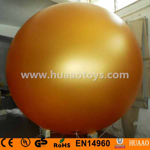 2m/6.5ft Giant PVC Gold Inflatable Balloon sky balloon helium balloon ao058b 2m white pvc helium balioon inflatable sphere sky balloon for sale attractive inflatable funny helium printing air ball