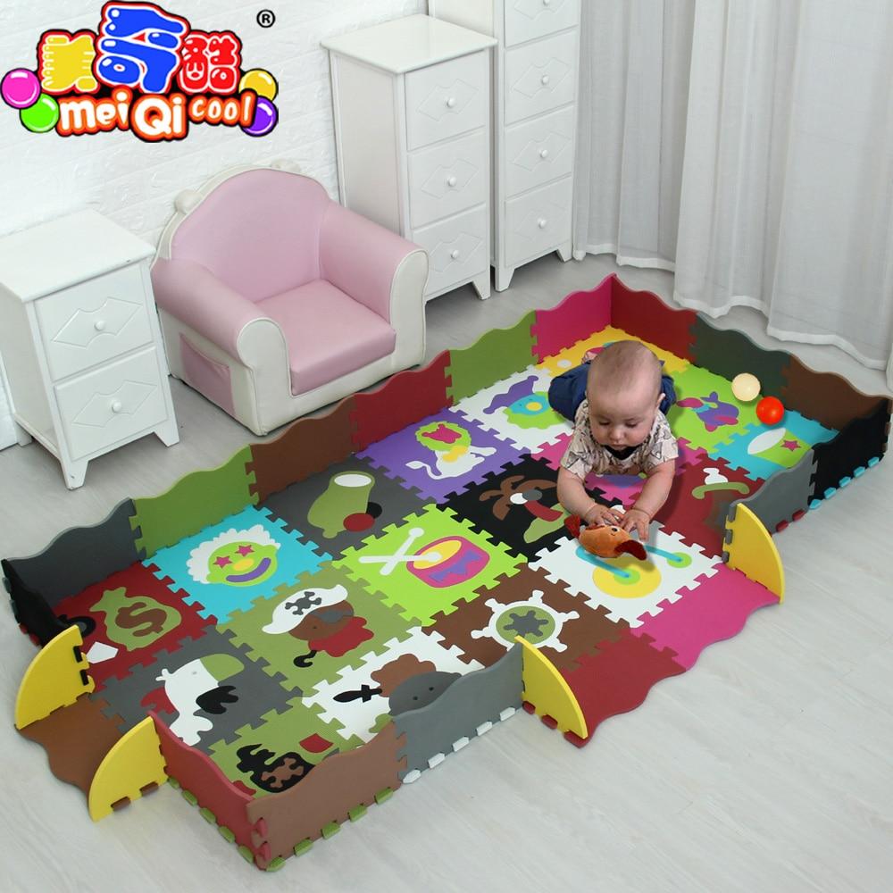 купить mei qi cool 30*30cm/32*32CM Baby Puzzle Carpet Baby Play Mat Floor Puzzle Mat EVA Children Foam Carpet Mosaic Floor Play Mats онлайн