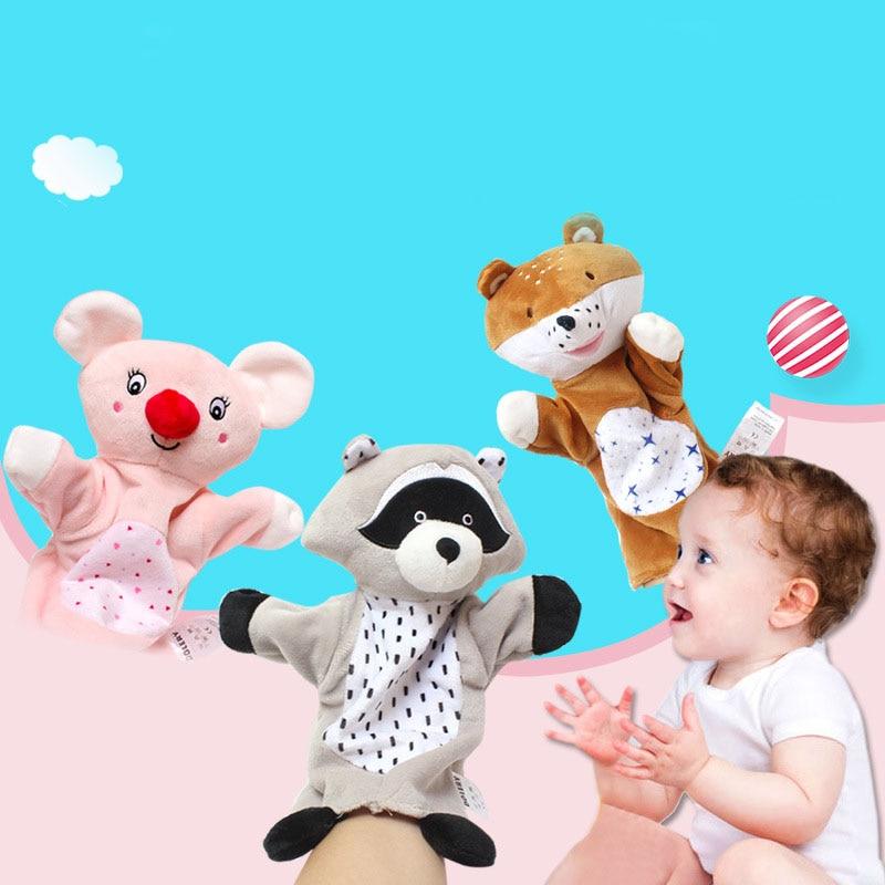 Cartoon Tier Handpuppen Plüsch Spielzeug Schöne Kinder Schlaf Geschichte Spiel Puppet Eltern-kind-Interaktion Spielzeug Puppen Puppen