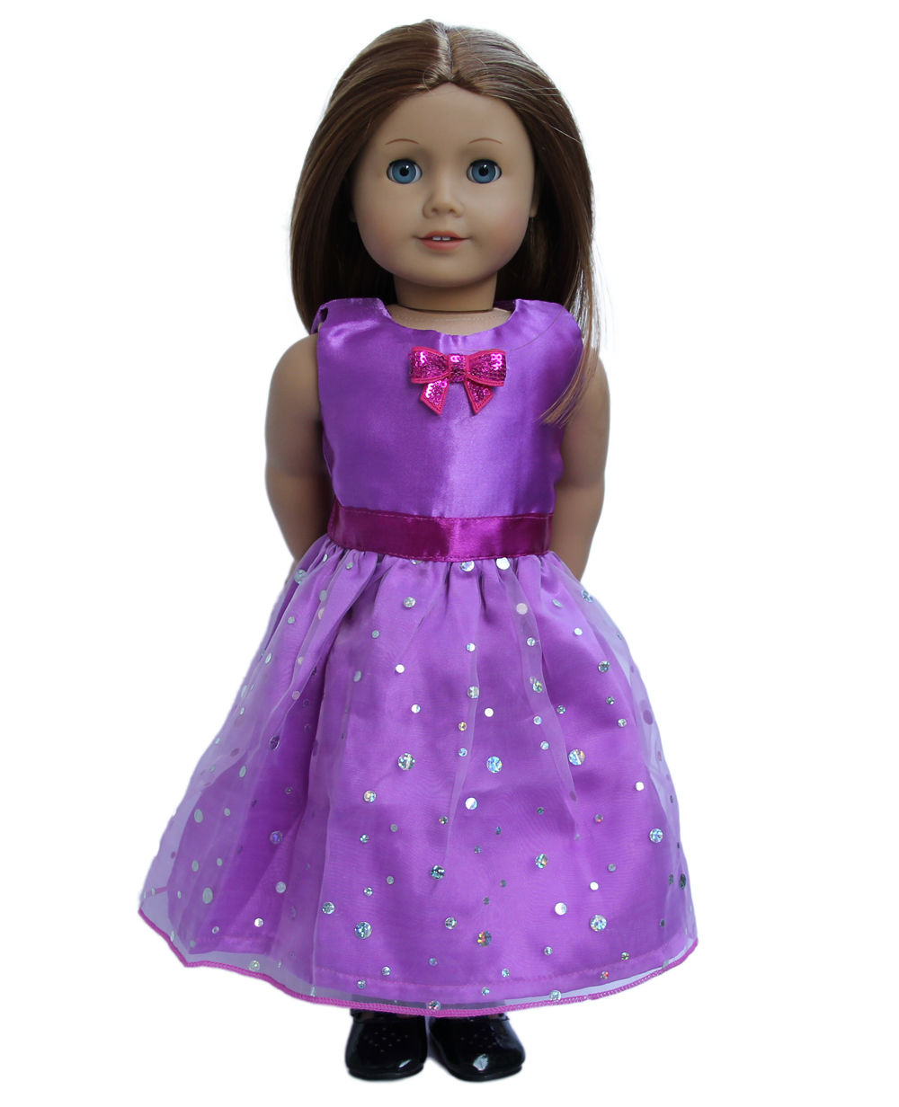 New purple Party Dress Free shipping! New DOLL CLOTHES For 18\