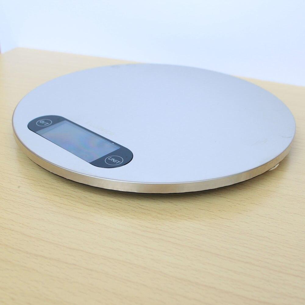 5 KG Digitale Küchenwaage 5000g 1g Edelstahl Gewicht Balance für ...
