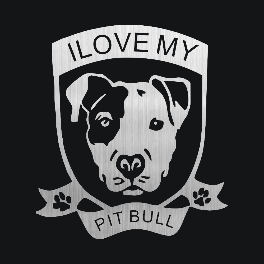 I Love My Pitbull Dog Car Stickers And Decals Stickers For Car Bumper Stickers Car Styling Door Body Window Vinyl Stickers
