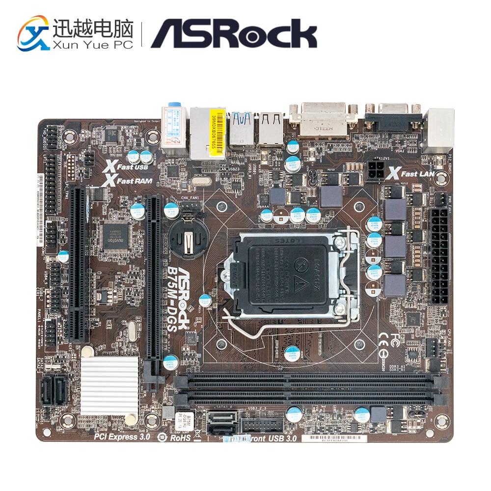 Asrock B75M-DGS Desktop Motherboard B75 Socket LGA 1155 i3 i5 i7 DDR3 16G USB3.0 Micro-ATX цена