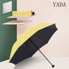 YADA Design Cartoon Yellow Duck Umbrella Cute Folding Child For Women Men Anti-UV Gift Windproof Rainy YD136