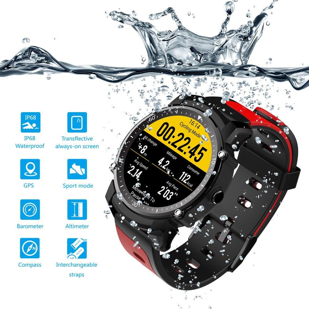 FS08 Montre Smart Watch Hommes IP68 Étanche GPS Sport Fitness Tracker Chronomètre Moniteur de Fréquence Cardiaque Montre-Bracelet Horloge pour Android IOS
