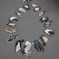 الجملة 13 قطع الأسود drusy الأحجار الكريمة حجر قلادة الحقائق ، قلادة مجوهرات جعل شريحة druzy الجيود قلادة قلادة زينة