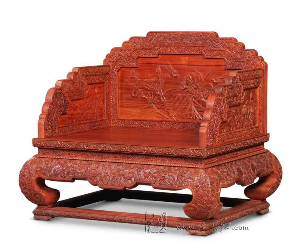 The imperial throne burma rosewood living room sofa furniture solid wood armchair redwood backed chairs chinese