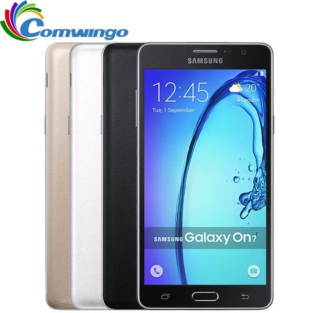 Оригинальный Новый Samsung Galaxy On7 G6000 Мобильный Телефон 5.5 ''13MP Quad Core 1280x720 Dual SIM Смартфон 4 Г LTE Разблокированный Мобильный телефон