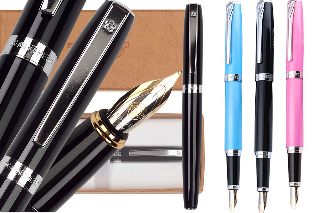 12pcs/lot Fountain Pen Medium Nib HERO 382 standard pen office and school stationery Top-rated FREE EXPRESS SHIPPING black gold curved nib calligraphy fountain pen or straight 0 7mm pens jinhao 159 office and school stationery free shipping