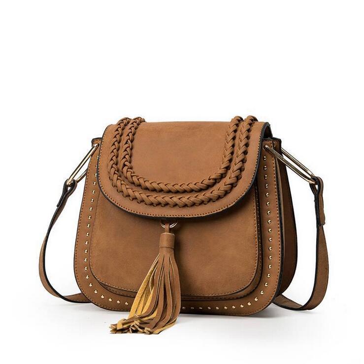 New Lady saddle bag Women Shoulder Bags tassel women messenger bags Handbags