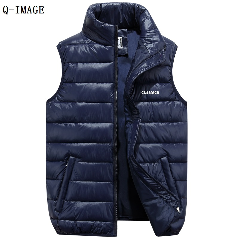 High end fashion New 2015 Autumn and Winter Lovers Down Cotton Vest Women and Men Vests