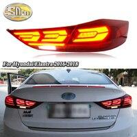 Car LED Tail Light Taillight For Hyundai Elantra 2017 2018 Rear Running light + Brake Light + Reverse + Dynamic Turn Signal