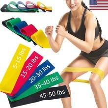 Набор из 5 резинок сопротивления для йоги, Уличное оборудование для фитнеса, пилатеса, занятий спортом, тренировки, резинки