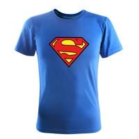 Fashion 2015 New Summer Style Short Sleeve 3D T Shirt Superman Printed Slim Cotton O Neck