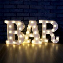 26 Alphabet LED Letter lights Home Decoration Warm white lights Marquee Letters Sign for Wedding Birthday party Battery Powered 9 leds 3d marquee night light arrow lamp for christams decoration led letters vintage marquee lights battery operated lights
