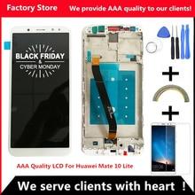 2560*1440 5,9 дюймов AAA качественный ЖК-дисплей с рамкой для HUAWEI mate 10 Lite ЖК-дисплей экран для mate 10 Lite Digiziter сборка