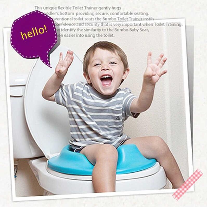 Asiento de baño de entrenamiento de orinal acolchado suave anillo bebé niño niñas color puro
