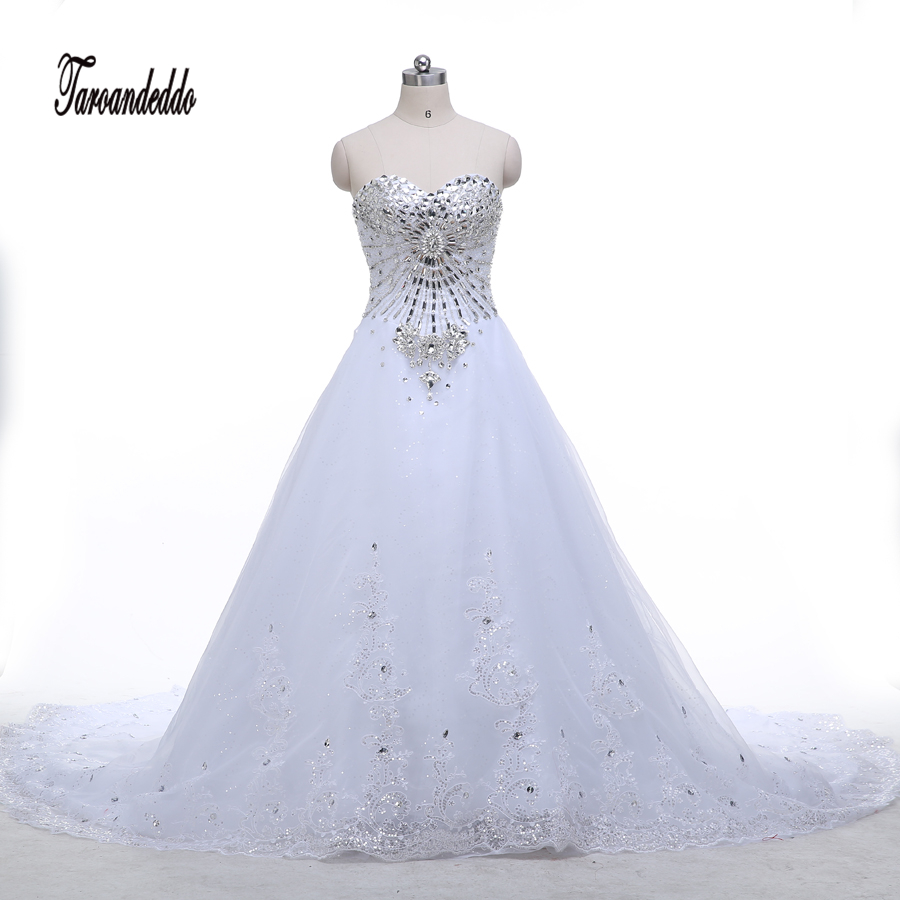 Wedding Ball Gowns Sweetheart Neckline: Sweetheart Neckline Rhinestones Beading Bodice Bling Bling