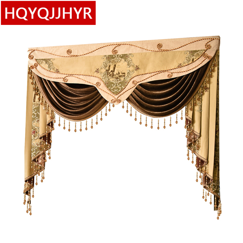 23 Style Luxury Valance For Curtain Top For Living Room Bedroom Buy VALANCE Dedicated Link/Not Including Cloth Curtain And Tulle