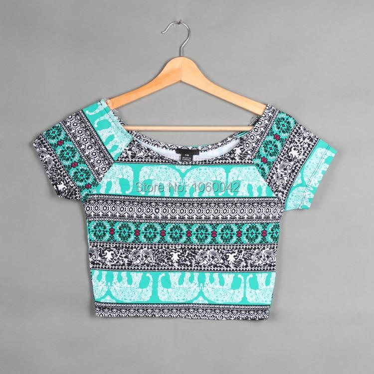 ead421fe1e 2015 para mujer de verano azul atractivo camiseta mujer algodón camiseta  Crop Tops Vintage camisillas delgado pantalones cortos hombre camisillas  diseñado ...