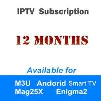 1 Year Arabic Italia France Africa Spain Europe Sweden iptv subscription support Enigma2 android tv box smart tv iptv m3u