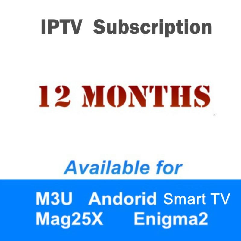 1 année Arabe Italia France Afrique Espagne Europe Suède iptv abonnement soutien Enigma2 android tv box smart tv iptv m3u
