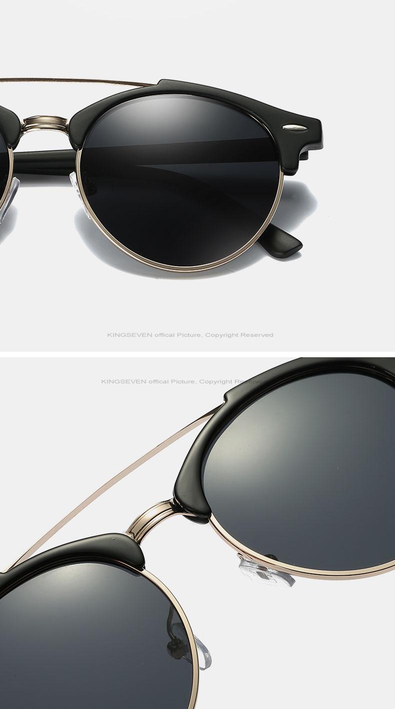 17 KINGSEVEN Retro Rivet Polarized Sunglasses Women Classic Brand Designer Sun glasses Eyewear Bridge Frame Oculos Gafas N7346 12